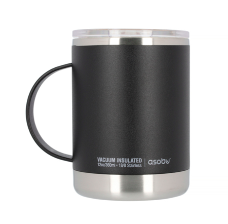 Asobu Ultimate Coffee Mug Czarny 360ml - Kubek termiczny